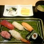 築地寿司清 - 早得握り:850円