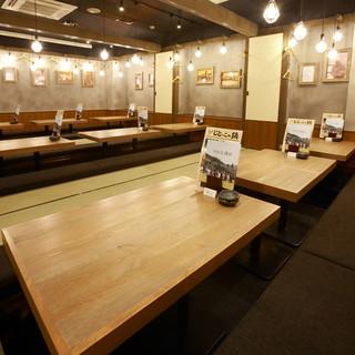 石山駅ビル1階で便利★個室あり!
