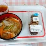 ユートリー駅前横丁 - 料理写真:ユートリー駅前横町@八戸 いかめし+八戸せんべい汁(シャモロック)