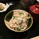 日本料理 晴山 - (2013年12月)セリと牛味噌の炊き込みご飯