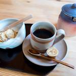 田園茶屋 いとわ - 食後のプチ贅沢! +200円でコーヒー。+100円のわらびもち。