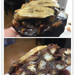 61246031 - チョコレートとバナナのパンペルデュ 税込260円                                              チョコレートケーキを食べているようです!