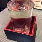 おか長 - 「日本酒(常温)」(280円)。