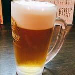 味噌おでん くろさわ - ゲコちゃんビール飲む♪