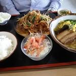 まーさむん家 麺そーれ - 日替わり定食(鶏の照り焼き)