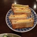 カフェ コトン - 玉子サンド。
