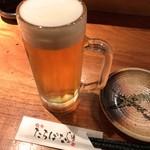 61261537 - 生ビール 中(サッポロ黒ラベル) 500円(税込)