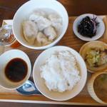 すずめ食堂&バル - 水餃子の定食