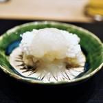 すず木 - 太刀魚のあられ揚げ 玉ねぎ餡掛け