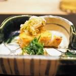 すず木 - さわら味噌幽庵焼き ふきのとうの揚物 せり