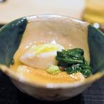 すず木 - 煮物 海老芋 穴子 京菊菜