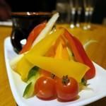61265737 - 彩り野菜のバーニャカウダー¥680