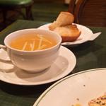 パスティーナ - セットのスープとパン