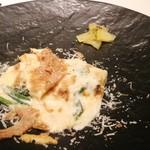 リストランテ ドゥエ フィオーリ - 猪肉の煮込みを巻いたチエッポ 白トリュフかけ