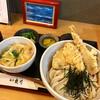 爽月 - 料理写真:ミニたまご丼、とり天・ちくわ天ぶっかけうどん(冷)