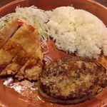 びっくりドンキー - ハンバーグ&若鶏しょう油香り揚げ