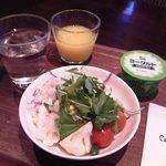 カフェラヴォワ - [料理] 朝食 サラダ・フレッシュジュース・ヨーグルト