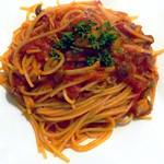 ビストロ サミュゼ - エビと3種のきのこのトマトソース