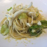 リストランティーノ ルベロ - ★7白魚と芽キャベツのアーリオ・オイリオ スパゲッティーニ