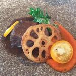 リストランティーノ ルベロ - ★6牛ホホ肉の赤ワイン煮込み 五香粉の香り