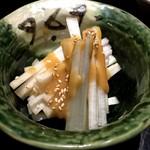 えんざ - 白独活の酢味噌和え
