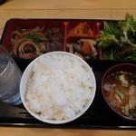 61281210 - 和風おろしサイコロステーキ定食¥750-