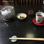 石ばし - 天削げ割橋、焙じ茶