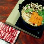 月の蕎麦 - 牡丹鍋(2人前)