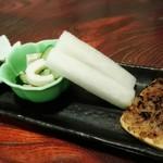 月の蕎麦 - 前菜3種