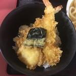 潮屋 - 天丼アップ