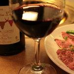 6129134 - 信州牛カルビとフランスワイン