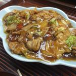 明朗飯店 - オススメの肉うま煮定食