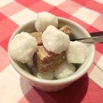 ブラッスリー・グー - エスプレッソ 210円 の角砂糖