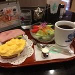 神戸にしむら珈琲店 - いただいた「サラダセット」800円(税込)(2017.1.15)