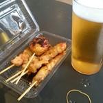 こめらく - 料理写真:焼鳥&ビールセット