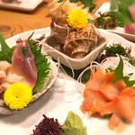 さかな市場 漁漁 - 貝の三種盛り