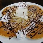 カフェ マチルダ - チョコバナナパンケーキ