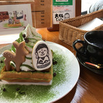 大仏cafe - 2017/1/15  めちゃくちゃ可愛い♡奈良公園ワッフル♬ 大きいのでシェアがオススメ‼︎