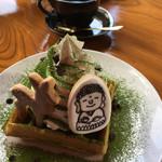 大仏cafe - 2017/1/15   奈良公園ワッフル(650円)+ブレンド(400円)いただきました(^_^)v