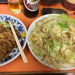 光栄軒 - 野菜炒めとお通し。