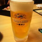 若の台所 こだわり野菜 - 生ビール