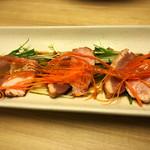 若の台所 こだわり野菜 - 合鴨の燻製カルパッチョ
