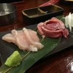 sumibiyakitorikigokoro - お造り2種盛り