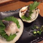魚と酒 はなたれ - 北寄貝の刺身
