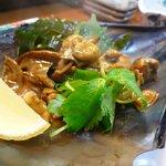 鮨 大吾 - タイラギ貝 紐の腸和え