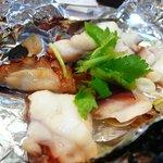 鮨 大吾 - 蛸のガーリック焼き
