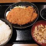 キッチン&リカー遊ya家 - ジャンボチキンカツ