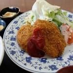 キッチンコック - 料理写真:ハンバーグカツ定食
