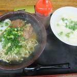 どん亭 - 沖縄そば500円、ゆし豆腐はクーポンで100円が無料に(2016.11.26)