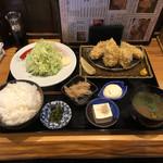 山田屋食堂 - 牡蠣フライ定食 1250円 ごはん中盛り